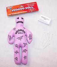 PURPLE FUNNY MAGIC VOODOO DOLL W STICK PINS gag prank pay back novelty joke vodo