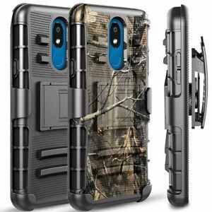 For LG Escape Plus / Aristo 4+ Case, Belt Clip Kickstand Case + Screen Protector