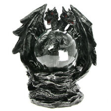 Gothic Dragon Plasma Ball Statue With Electric Glass Figurine Novelty Lamp Light