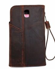 Genuine leather Case for Samsung Galaxy Note 3 wallet cover magnet bracket thin