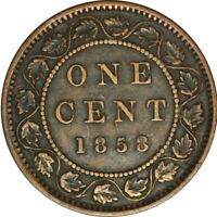 1858 Canadian Large Cent -Bold XF - Great Key Date Collector Coin! - d203squt1