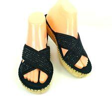 Bare Traps TENSE Womens Shoes Size 8 M Black Open Toe Espadrilles Slide Sandals
