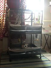 extra large bird cage two Separate Levels