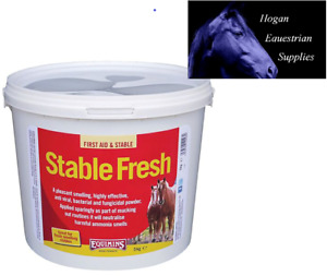 Equimins Stable Fresh Dry Bed Disinfectant Powder help remove urine smells