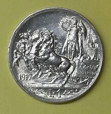 Regno d'Italia V.E.III 1 Lira 1917 quadriga briosa qfdc