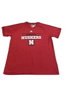 Adidas NCAA Univ. of Nebraska 2XL Ultimate Tee Red/Black dx053