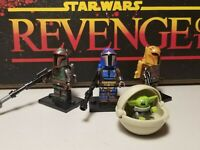 MANDALORIAN jet lot of 3 & Baby Yoda #4 set minifigures clone troopers Star Wars