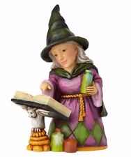 JIM SHORE'S HEARTWOOD CREEK ~ MINI WITCH WITH SPELL BOOK~ HALLOWEEN ~ 4058851