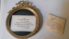 CADRE FRAME DORE METAL STYLE L. XVI RELIC OLD MEMORY GOOD LUCK CHANCE RELIQUAIR