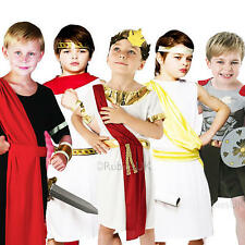 Ancient Roman Boys Fancy Dress Toga Grecian Book Week Kids Childs Costume Outfit