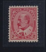 Canada Sc #90 (1903) 2c King Edward VII VF NH