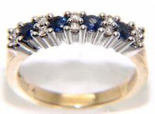 Mujer / 9 ct 9 Oro Amarillo Zafiro y Anillo Con Diamante, Talla N, 3,7 g