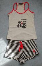 La Senza Frogs Pyjama Set Racer Back Vest Top & Shorts Size 10 UK Size 8 Summer