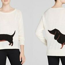 French Connection Dachshund Black/Tan Weiner Dog Wool Sweater NWT - Size XS