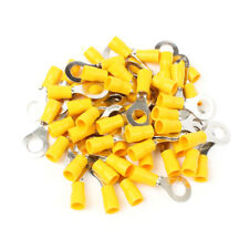 30PCS RV5.5-8 Yellow Ring insulated terminal suit 4-6mm2 Cable Wire Connector
