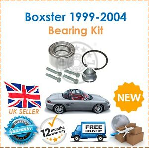 For Porsche Boxster 986 3.2 S 1999-2004 One Rear Wheel Bearing Kit + Bolts + Nut