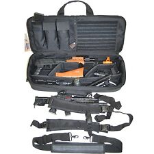 Tactical Gun Case 28in Heavy Duty Padded Pistol Carrying Bag w/ Magazine Pouches