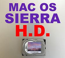 Mac Pro Replacement HD FRESH 10.12 Mac OS Sierra Install 80GB • Clone to new HD