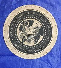 Office of the Director National Intelligence ODNI DNI Set of 4 Leather Coasters