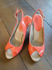 BANANA REPUBLIC Espadrille Wedge Red Patent Dress Sandals Shoes sz 7 EUC Nice