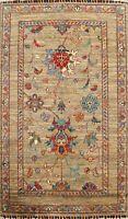 Floral Vegetable Dye Super Kazak Oriental Hand-knotted Area Rug Home Decor 3'x4'