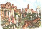 CARTOLINA - ROMA - FORO ROMANO - ILLUSTRATORE ALDO RAIMONDI - 1950