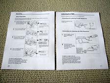 Sony NT-1 Scoopman digital audio recorder owners manual