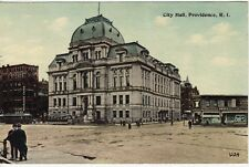 Antique POSTCARD c1913 City Hall PROVIDENCE, RI RHODE ISLAND