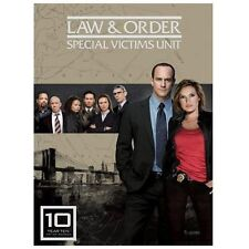 "Law & Order: Special Victims Unit - Tenth Year, 10 (DVD) .""BRAND NEW, SEALED"""