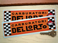 DELLORTO ORANGE style Motorcycle Scooter Car stickers