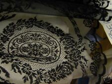 "New delicate vintage style black lace panel - 54"" drop"