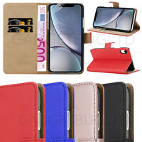 CASE FOR IPHONE XR REAL GENUINE LEATHER SHOCKPROOF HEAVY DUTY WALLET FLIP COVER