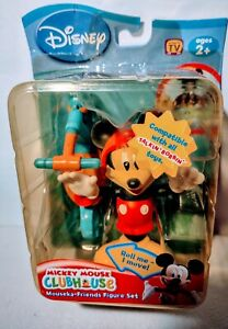 Disney Mickey Mouse Clubhouse Talkin Bobbin Mouseka Friends Scooter Figur RARE🛴