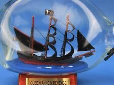 """7"""" Wooden Blackbeard's Queen Anne's Revenge Pirate Ship in a Glass Bottle"""