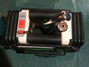 2 Vintage powerblock 50 lb. adjustable dumbbell set with metal rods
