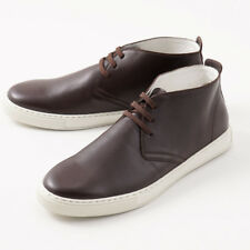 NIB $1450 KITON Chocolate Brown Calf Leather Chukka Sneakers US 9 Shoes