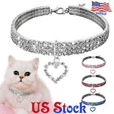 Pet Rhinestone Collar Bling Crystal Dog Cat Jewelry Necklaces Puppy Supplies