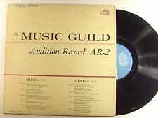 the music guild lp audition record ar-2     vg+/m-