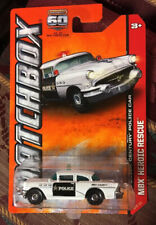 '56 Buick Century Police Car #18 * WHITE * Matchbox *