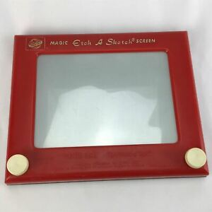 Vintage Original Early 1960's 505 Red Magic ETCH A SKETCH Ohio Art Toy Glass