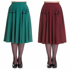 Hell Bunny Knee Length Polyester Party Skirts for Women