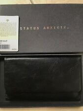 Black Leather Status Anxiety Wallet