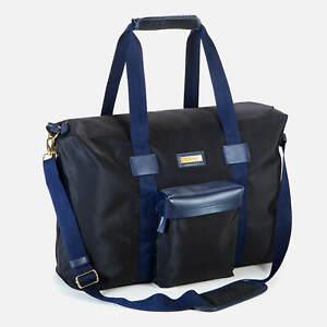 VERSACE Large Black & Blue Sport Duffle Bag / Travel / Weekender / College / Gym