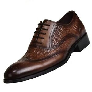 2020 new men's leather shoes lace-up wedding shoes business office Oxford