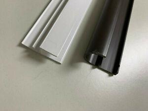 PVC Rollladen Abrollprofil Rollladen Traverse mit Klemmprofil 2 Farben 80-190cm