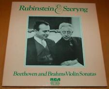 Rubinstein & Szeryng - Beethoven Brahms Violin Sonatas 1974 UK RCA 3 LP Box Set