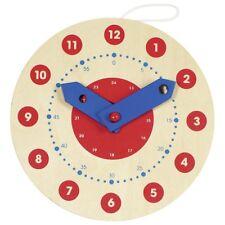 Lernuhr aus Holz für Kinder Uhrzeit lernen Kinderuhr Spieluhr Schule goki 58980