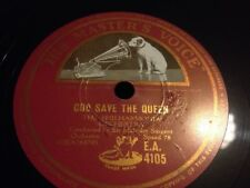 MALCOLM SARGENT 78 RPM - GOD SAVE THE QUEEN- HMV EA.4105