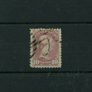 SUPERB dull rose lilac Cat $120+ 10 cent Small Queen Canada used