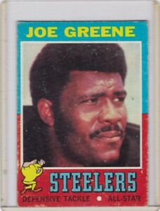 1971 Topps Football Card #245 Joe Greene Rookie Steelers HOF - Ex+